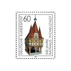1 عدد تمبر 500مین سال سالن شهر میچلستدت - جمهوری فدرال آلمان 1984