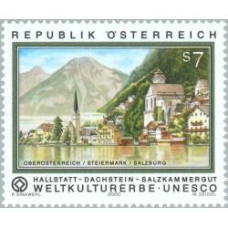 1 عدد تمبر لیست میراث جهانی یونسکو - اتریش 2000