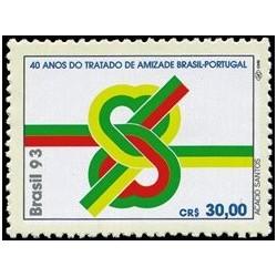 1 عدد تمبرچهلمین سال پیمان دوستی و روابط کنسولی برزیل و پرتغال  - برزیل 1993
