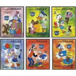 6 عدد تمبر 50مین سال دانلد داک - والت دیسنی  - توگو 1984