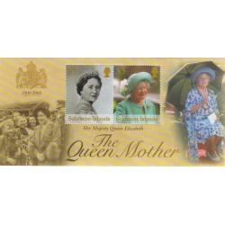 سونیرشیت یادبود مرگ ملکه الیزابت، ملکه مادر- چزایر سلیمان 2002