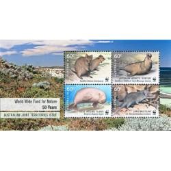 سونیرشیت 50مین سالگرد WWF - تمبر مشترک قلمروهای تحت فرمان استرالیا - 1 - استرالیا 2011