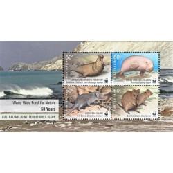 سونیرشیت 50مین سالگرد WWF - تمبر مشترک قلمروهای تحت فرمان استرالیا - 2 - استرالیا 2011
