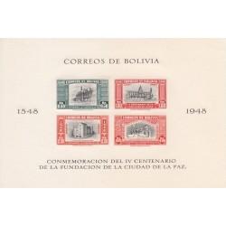 سونیرشیت 400مین سالگرد تاسیس لاپاز - 6 - بیدندانه - پست هوائی - بولیوی 1951