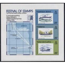 سونیرشیت فستیوال تمبرها - کشتیها - تریستان - سنت هلن 1976