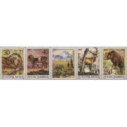 4 عدد تمبر حیوانات حفاظت شده - B-  یوگوسلاوی 1987