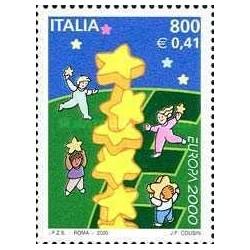 1 عدد تمبر مشترک اروپا - Eropa Cept - ایتالیا 2000