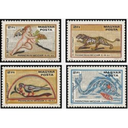 4 عدد تمبر روز تمبر - موزائیکهای رومانیائی - مجارستان 1978 قیمت 6.7 دلار