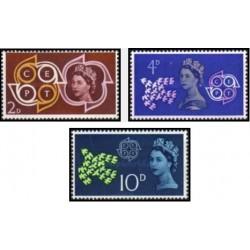 3عدد تمبر مشترک اروپا - Europa Cept - انگلیس 1961