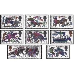 8 عدد تمبر نهصدمین سال نبرد هاستینگ - انگلیس 1966