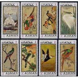 8 عدد تمبر تابلوهای نقاشی پرندگان - B - عجمان 1971