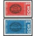 2 عدد تمبر صدمین سال اولین دوره بین المللی - جمهوری دموکراتیک آلمان 1964
