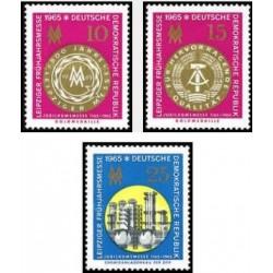 3 عدد تمبر نمایشگاه بهاره لایپزیک - جمهوری دموکراتیک آلمان 1965