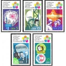 5 عدد تمبر مسابقات بین المللی جوانان و دانشجویان - جمهوری دموکراتیک آلمان 1973