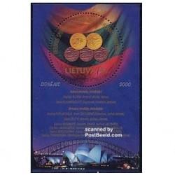 سونیر شیت برندگان مدال المپیک - لیتوانی 2000