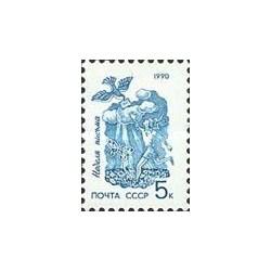 1 عدد تمبر هفته نامه نگاری - شوروی 1990