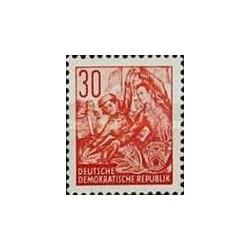 1 عدد تمبر سری پستی  - 30 -  جمهوری دموکراتیک آلمان 1953 قیمت 11.7 دلار