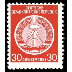 1 عدد تمبر خدمات - 30 -  جمهوری دموکراتیک آلمان 1954