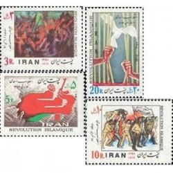 1946 - بلوک 4 عدد تمبر انقلاب اسلامی 1358