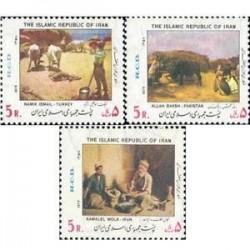 1965 - بلوک 3 عدد تمبر همکاری عمران منطقه ای 1358