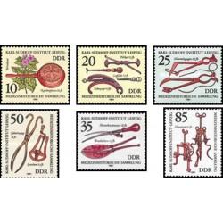 6 عدد تمبر آلات قدیمی پزشکی - جمهوری دموکراتیک آلمان 1981