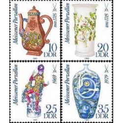 4 عدد تمبر چینی جات - جمهوری دموکراتیک آلمان 1982
