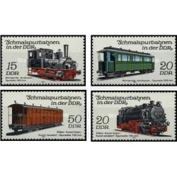 4 عدد تمبر راه آهن - لوکوموتیوها و قطارهای مسافری - جمهوری دموکراتیک آلمان 1983