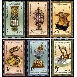 6 عدد تمبر ساعتهای شنی و خورشیدی - جمهوری دموکراتیک آلمان 1983