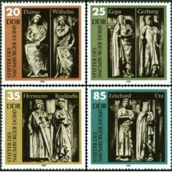 4 عدد تمبر بنیانگذاران کلیسای نامبورگ - جمهوری دموکراتیک آلمان 1983