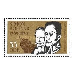 1 عدد تمبر 200مین سالگرد تولد سیمون بولیوار - سیاستمدار - جمهوری دموکراتیک آلمان 1983