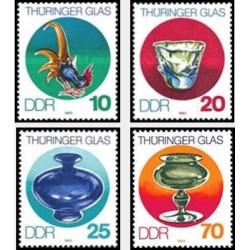 4 عدد تمبر هنر شیشه ای - جمهوری دموکراتیک آلمان 1983