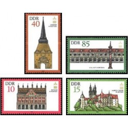 4 عدد تمبر قصرها و باغها - جمهوری دموکراتیک آلمان 1984
