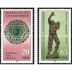 2 عدد تمبر گنجینه های هنری - جمهوری دموکراتیک آلمان 1984