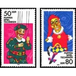 2 عدد تمبر عروسکهای خیمه شب بازی - جمهوری دموکراتیک آلمان 1984