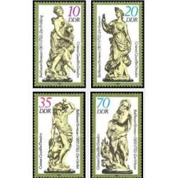 4 عدد تمبر مجسمه ها  - جمهوری دموکراتیک آلمان 1984