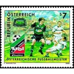 1 عدد تمبر قهرمان غوتبال اتریش - تیرول - اتریش 2000