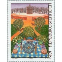 1 عدد تمبر هنر مدرن در اتریش - اتریش 2000