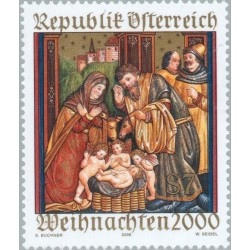 1 عدد تمبر کریستمس - اتریش 2000