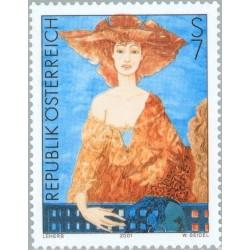 1 عدد تمبر هنر مدرن در اتریش  - اتریش 2001