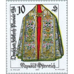 1 عدد تمبر صنایع دستی آنتیک  - اتریش 2001