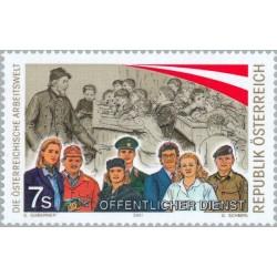 1 عدد تمبر جهان کاری اتریشی ها - اتریش 2001