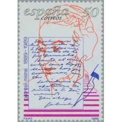 1 عدد صدمین سال تولد گابریلا میسترال -شاعر - برنده نوبل ادبیات  - اسپانیا 1989