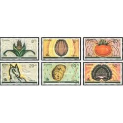 6 عدد تمبر پانصدمین سال کشف آمریکا - اسپانیا 1989