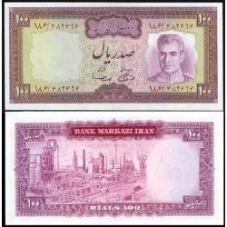 152 - جفت اسکناس 100 ریال جمشید آموزگار - مهدی سمیعی - دوره دوم