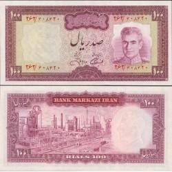 161 -جفت اسکناس 100 ریال جمشید آموزگار - عبدالعلی جهانشاهی - جشن 2500 ساله