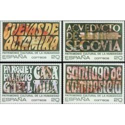 4 عدد تمبر میراث جهانی یونسکو - اسپانیا 1989
