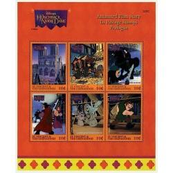مینی شیت کارتونی والت دیسنی- گوژ پشت نوتردام -1-  سنت وینسنت و گرندین 1996
