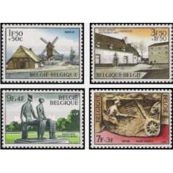 4 عدد تمبر فرهنگ - بلژیک 1970