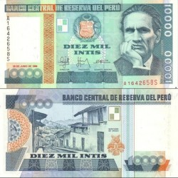 اسکناس 10000 اینتیس - پرو 1988