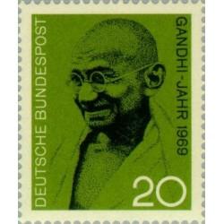 1 عدد تمبر مهاتما گاندی - جمهوری فدرال آلمان 1969